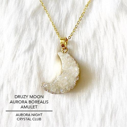 Druzy Moon Aurora Borealis Amulet