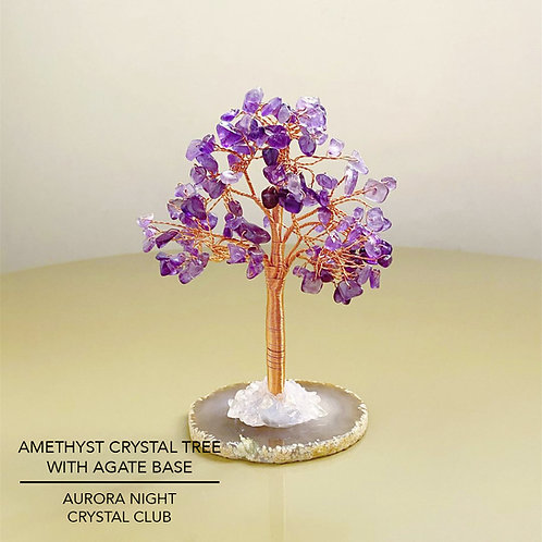 Amethyst Crystal Tree With Agate Base