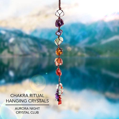 Chakra Ritual Hanging Crystals