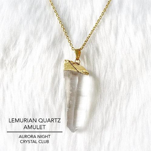 Lemurian Quartz Amulet