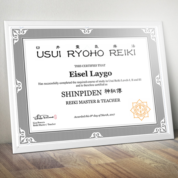 Usui Reiki Master / Teacher Cert