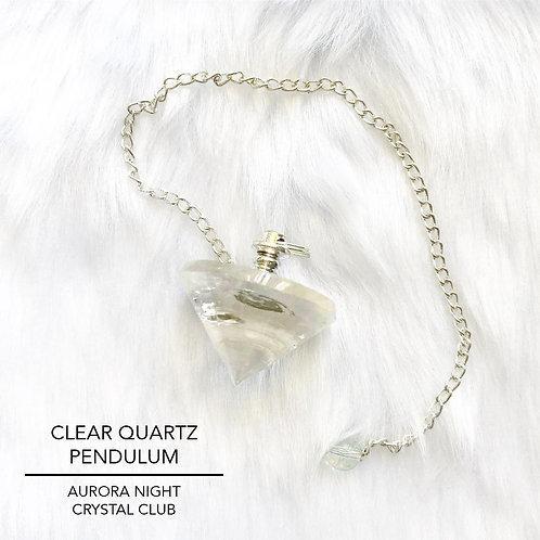 Clear Quartz Crystal Pendulum