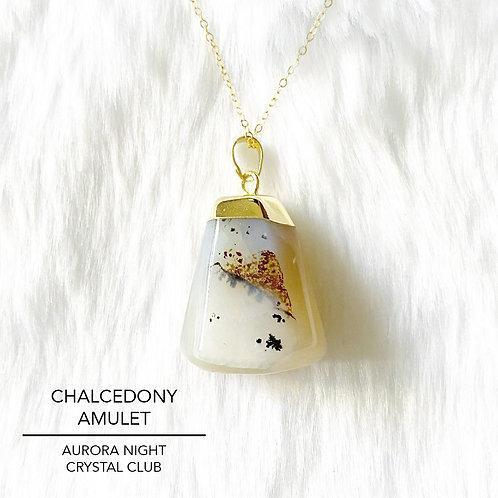 Chalcedony Amulet