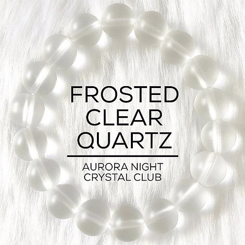 Frosted Clear Quartz