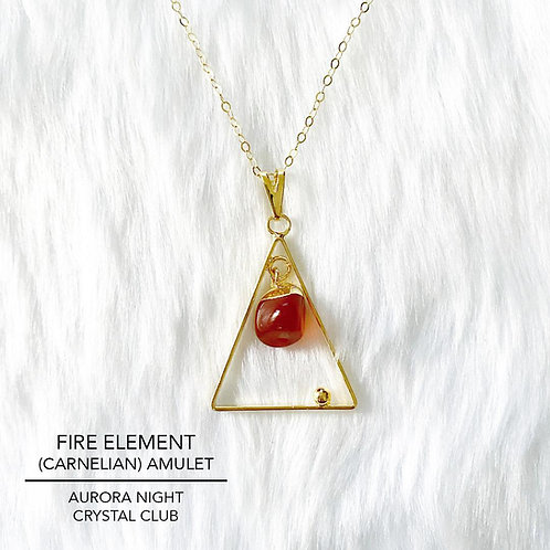 Fire Element (Carnelian) Amulet
