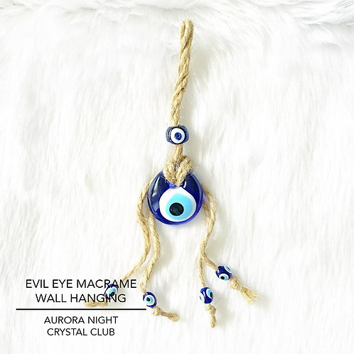 Evil Eye Macrame Wall Hanging