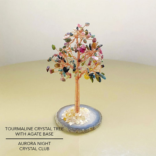 Tourmaline Crystal Tree With Agate Base