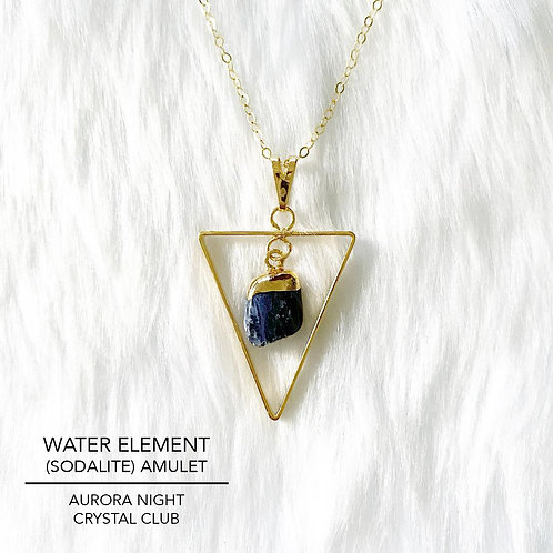 Water Element (Sodalite) Amulet