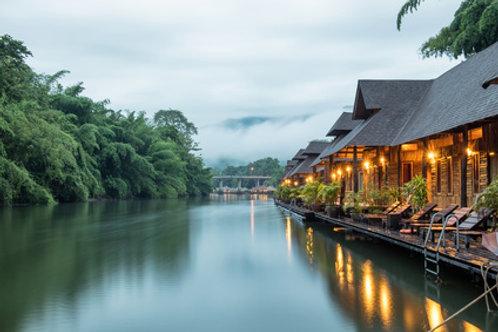 Märkte, Elefantensafari im Dschungel am River Kwai