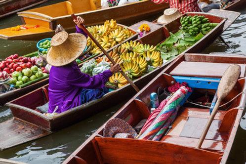 Schwimmender Markt – Brücke am Kwai