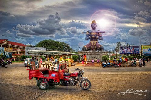 Franz. Kolonialstadt Battambang und Dschungelerlebnis in Tatai
