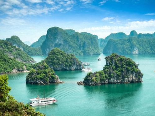 Hanoi und Kreuzfahrt mit einer Dschunke durch Ha Long Bay