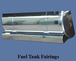 "Fuel Tank Fairings for FLD 83""W/ Light Holes"