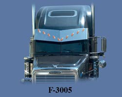 F-3005	Drop visor for FLD Condo V-style w/ light h
