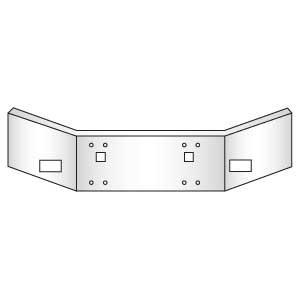 Kenworth 14-Inch Square Open End Chrome Bumper