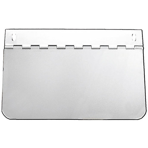 "Hinged Permit Holder 4"" x 8"" Stainless Steel"