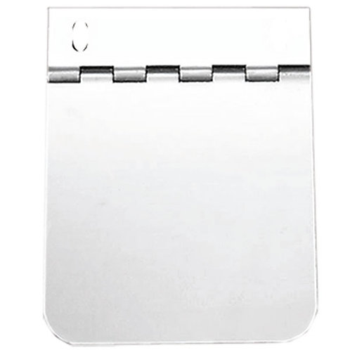 """Hinged Stainless Steel Permit Panel 4"""" x 4"""""""