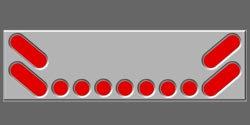 "45"" 4 oval holes & 7 2"" holes"