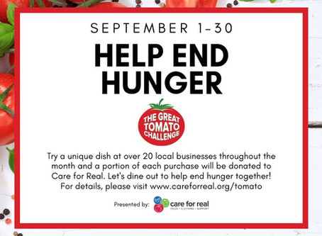 The Great Tomato Challenge. Let's Help End Hunger Together!!!