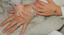 Juwelierkunst:Süßwasserperlenarmband für das Baby