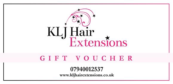 KLJ Hair Extension Gift Voucher