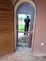 Pose de vitres dans le bâtiment de l'UPA