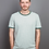 Thumbnail: T-SHIRT COUDRE BERLIN, Contrast Collar, granite/moss, 100%Cotton