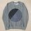 Thumbnail: SWEATER UNISEX CIRCLE   PRINTA, schwarz|grau -Cotton