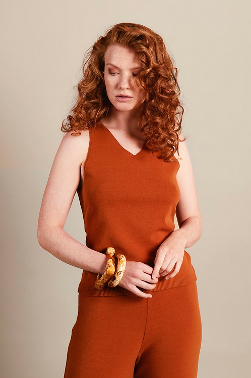 HOSE MOMENT   RHUMAA, Ginger -Viskose/PBT