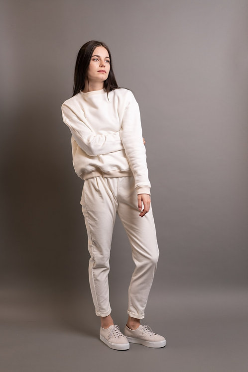 SWEATER YUNA, TABITHA WERMUTH, ORGANIC COTTON, OFF WHITE