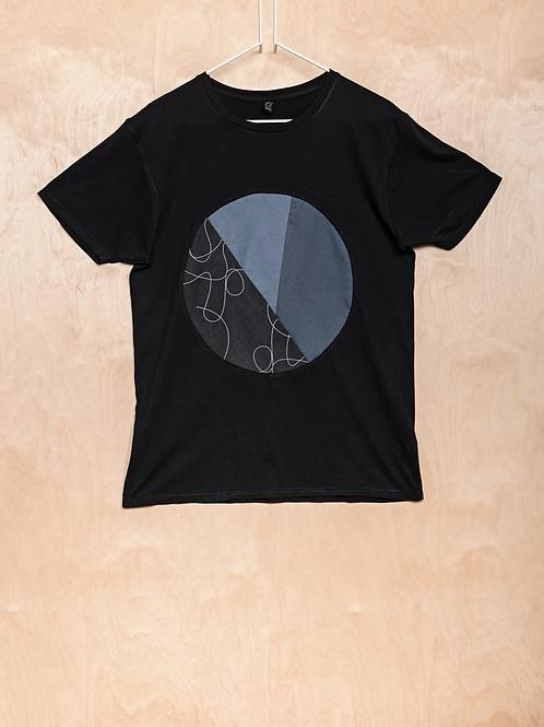 T-SHIRT CIRCLE   PRINTA, schwarz -OrganicCotton