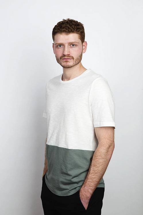 T-SHIRT COUDRE BERLIN, Chalk/Merman - 100%Cotton