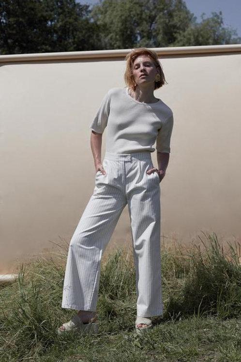 HOSE  RHUMAA, offwhite gestreift -100%Cotton