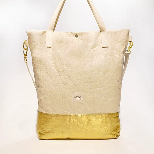 "BAG ""PURE"" NATURAL GOLD, Vegan PINATEX©"