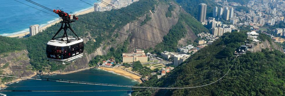 Quadro O Corcovado e a Guanabara por Kcris Ramos