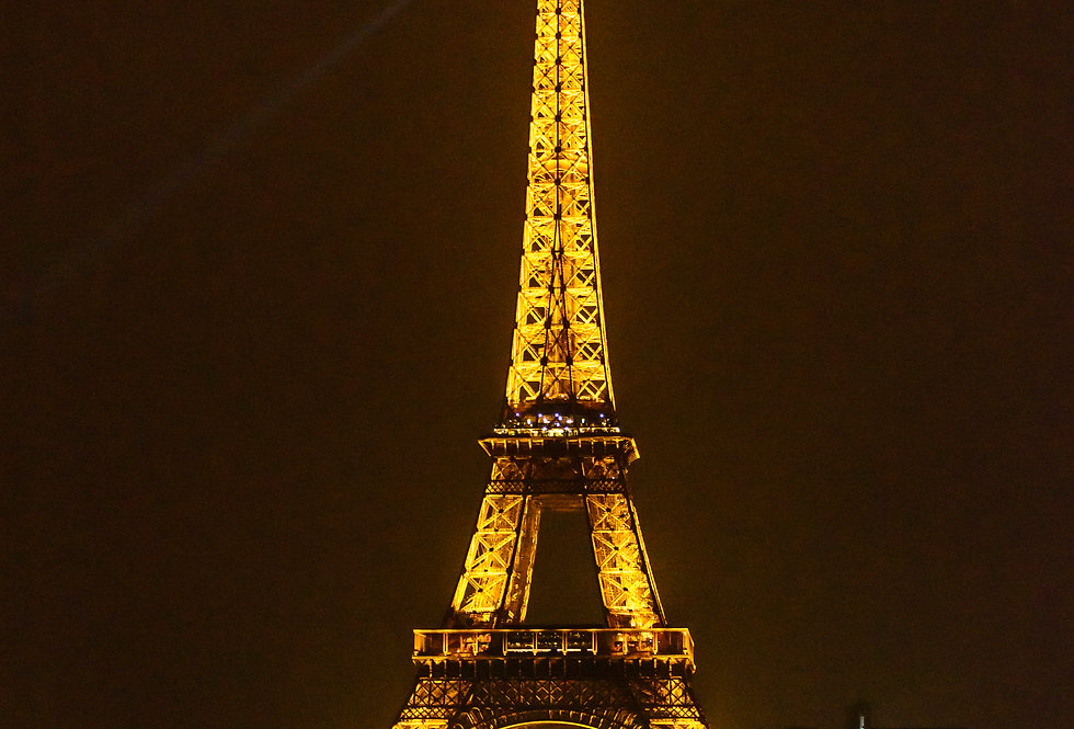 Quadro  A noite da Torre Eiffel - Frame The night of the Eiffel Tower by Kcris Ramos