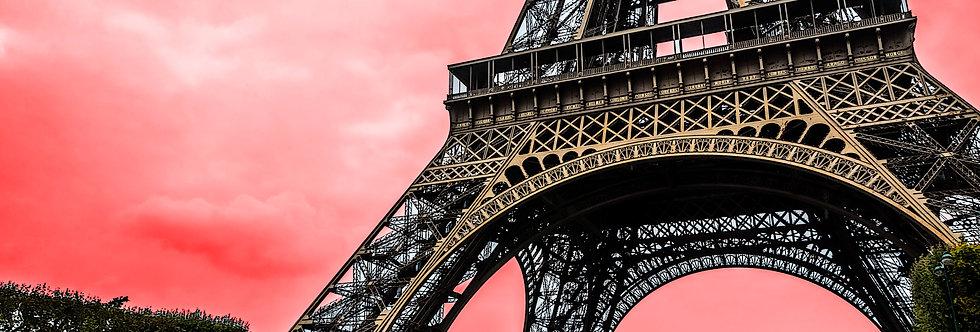 Quadro Eiffel sobre o céu vermelho - Eiffel picture over red sky by Kcris Ramos