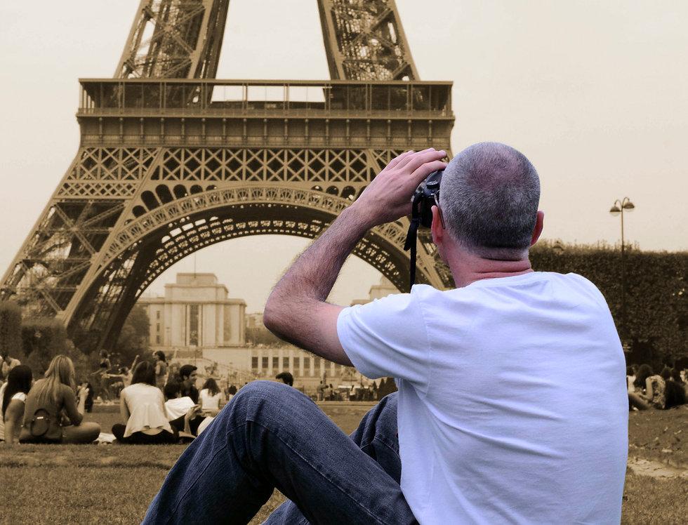 Quadro O Fotografo e a Torre - Frame The Photographer and the Tower by Kcris Ramos