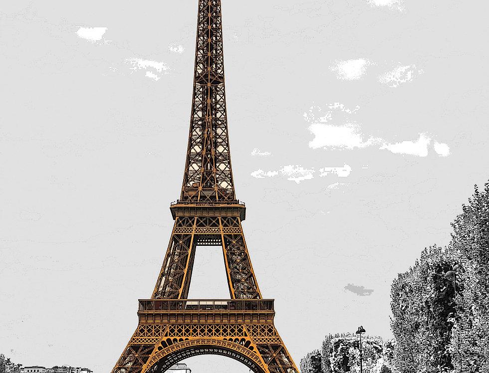 Quadro Eiffel Minimalista - Picture Eiffel Minimalist by Kcris Ramos