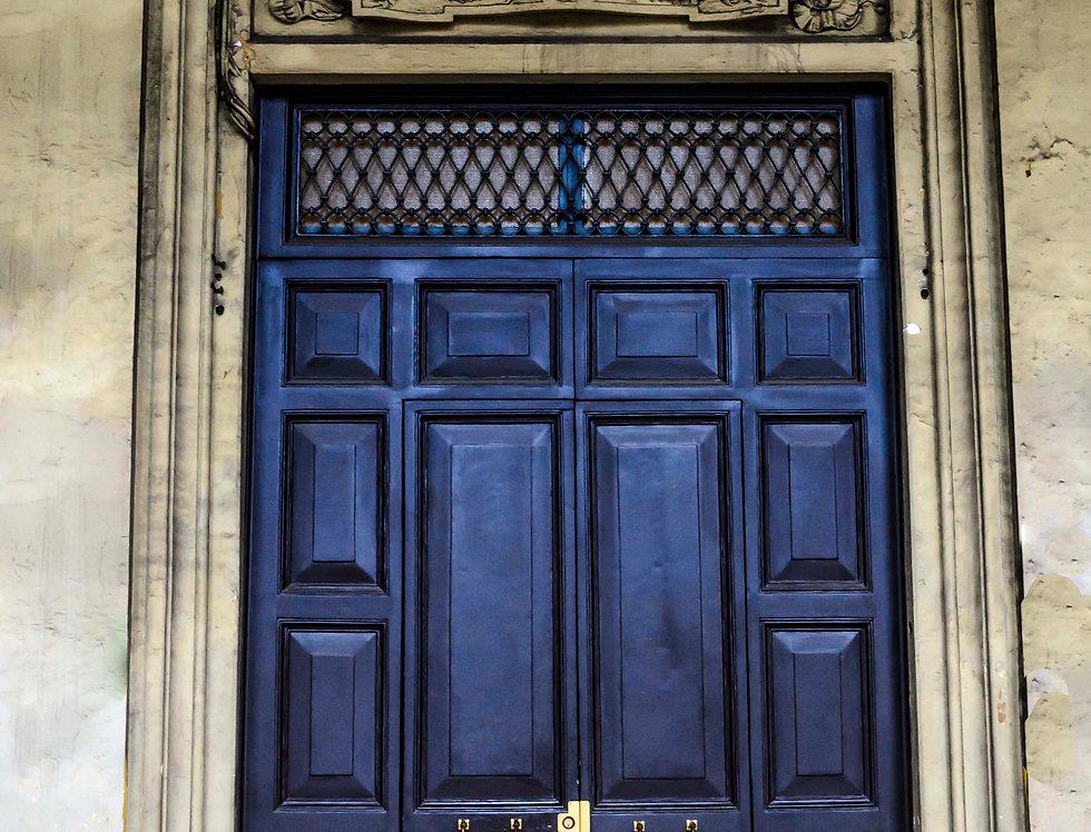 Quadro Uma Porta Azul em Paris - Picture A Blue Door in Paris by Kcris Ramos