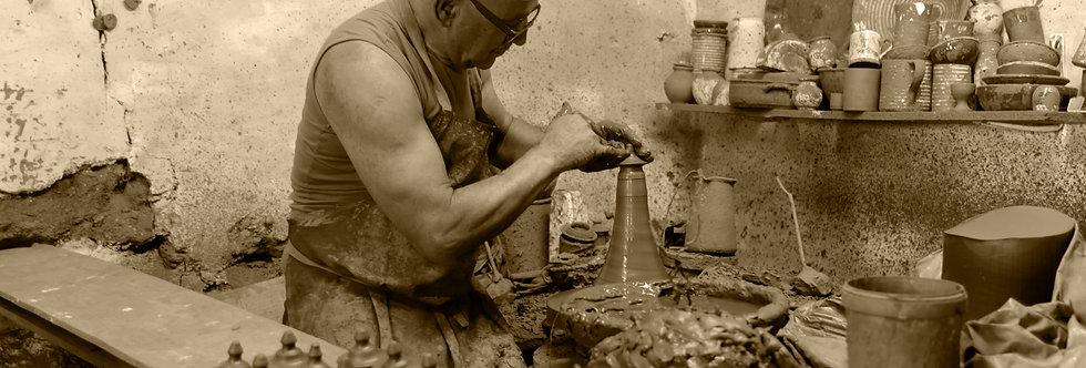 quadro fine arte em sépia O artesão - The Craftsman