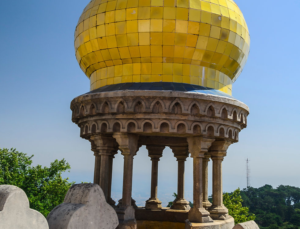 Quadro Torre amarela de Sintra - Picture Yellow tower of Sintra by Kcris Ramos