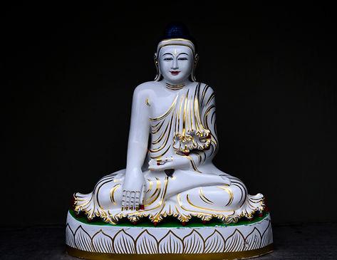fine art Budda, fotografia em alta resolução do azul de Budda em fundo negro