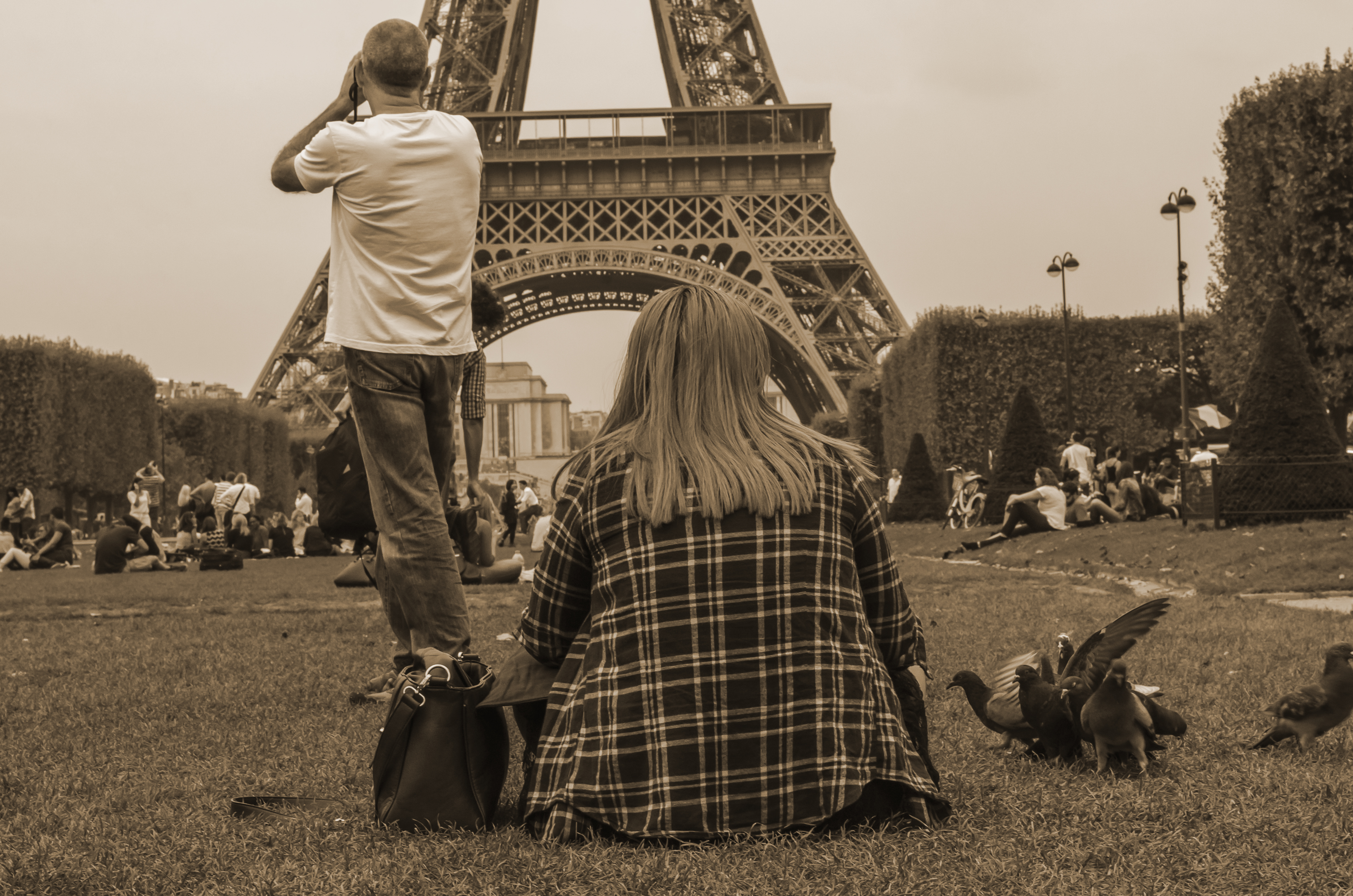 Fine art Paris uma tarde um dia