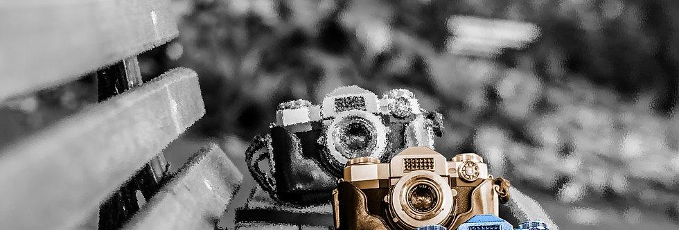 Quadro Câmeras Retrô - Retro camera frame by Kcris Ramos