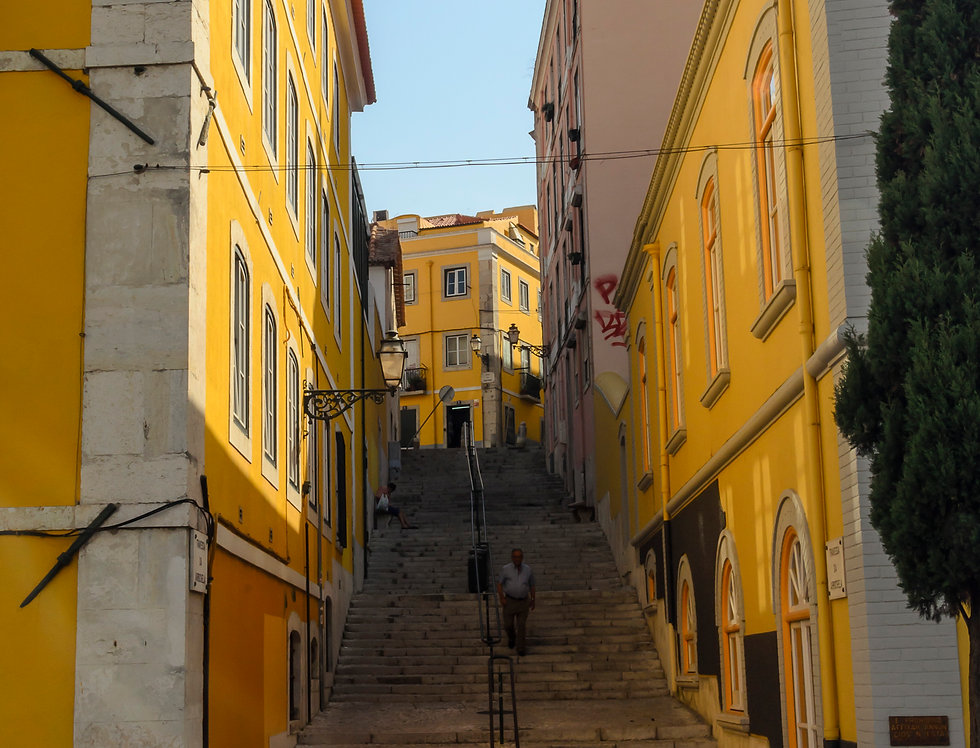 Fotografia Vielas amarelas de Lisboa por Kcris Ramos
