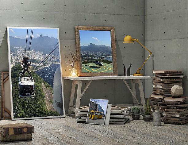 Quadros do rio de Janeiro Portrait Art