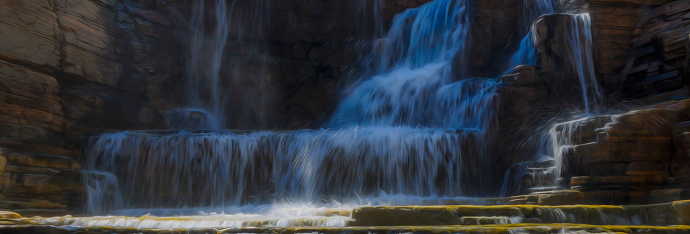 Quadro Cachoeira das Águas claras - Picture Waterfall of Clear Waters by Kcris Ramos