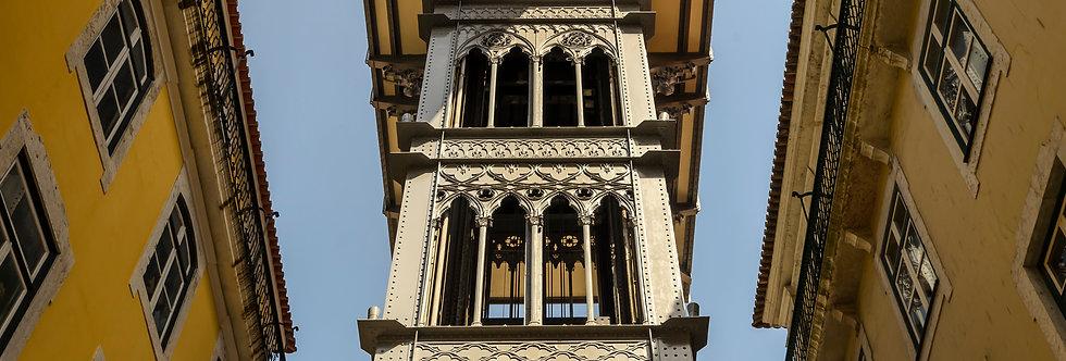 Quadro O elevador da Art nouveau - Art nouveau lift frame by Kcris Ramos