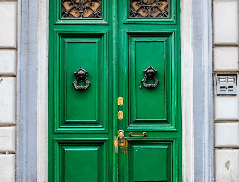 Quadro  Porta verde de Roma - Picture Green door of Rome by Kcris Ramos